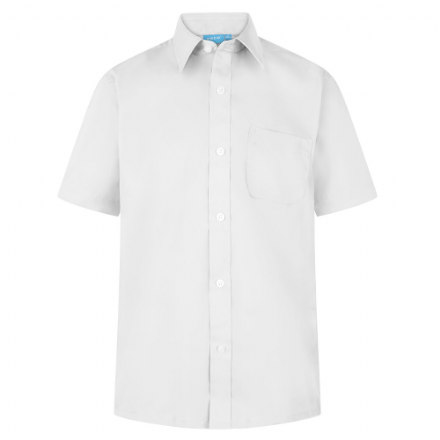Boys White Short Sleeve Shirt  - Twin Pack